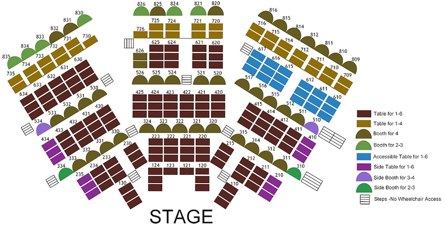 Chanhassen Dinner Theatre setaing charts main theatre shows image